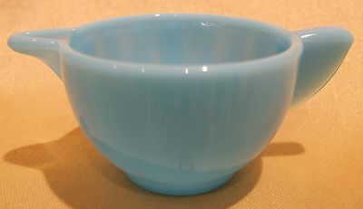 Akro Agate Glass BLUE LUSTER Lg. Interior Panel Child's Tea Set Creamer PERFECT!
