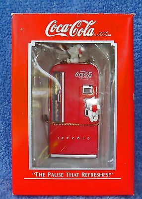 """1989 ENESCO ORNAMENT MINT IN BOX COCA COLA """"THE PAUSE THAT REFRESHES!"""""""