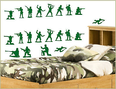 Toy Story style 21 peice set army men Andy's Bedroom Wall Art Sticker Decal kids