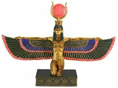 "Egyptian Legend Myth Winged Goddess Isis Home Decor Figurine Statue 12.5"" Long"
