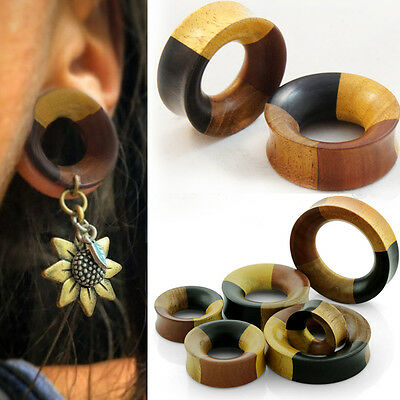 Coconut Iron Wood Tunnel Double Flare Ear Plugs Gauges Sold Pair  GOW27