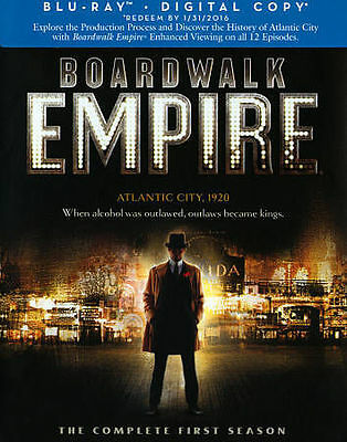 Boardwalk Empire: The Complete First Season (Blu-ray Disc, 2014, 5-Disc Set) NEW