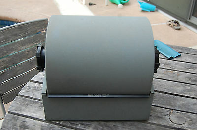 "Rolodex 3500-T VTG Filled w/ Cards Grey Steel Rolling Twin 3""x5"" Double Side"
