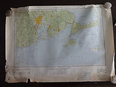 1947 - ANTIQUE Map of Providence, RI - Topographic