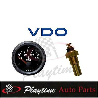 VDO Cockpit Vision Gauge Electric Water Temp 12V 52mm Black + Sender - Free Post