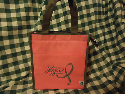 Longaberger Horizon of Hope Pink Insulated Lunch Tote--New with tags