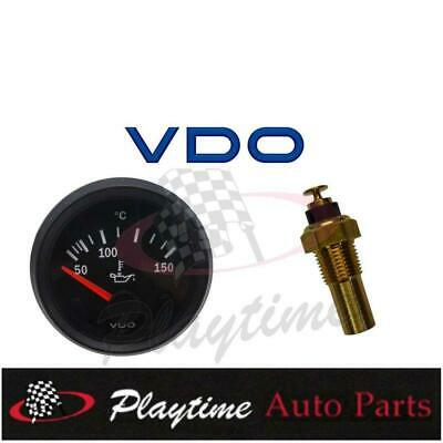 VDO Cockpit Vision Gauge Electric Oil Temp 12V 52mm Black + Sender - Free Post