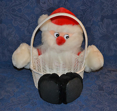 Funny Christmas SANTA CLAUS in a Basket