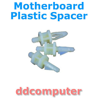 Motherboard Spacer Standoff Plastic Lot 10 Stand off. Screw Type 6-32 or M3