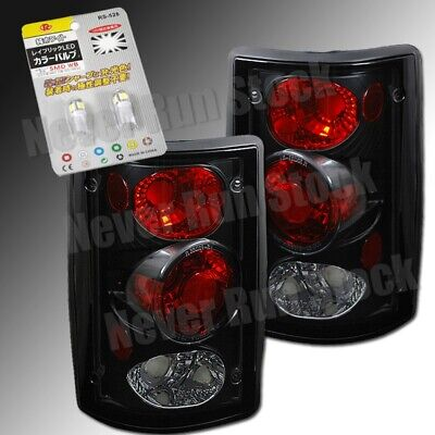 Ford Excursion Altezza Clear Black Tail Lights +Super White License Plate Bulbs