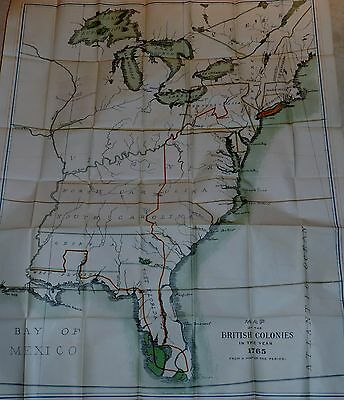 "U.S.AMERICA Color Map of the British Colonies in the Year 1765, 43"" X 34"" c1890"