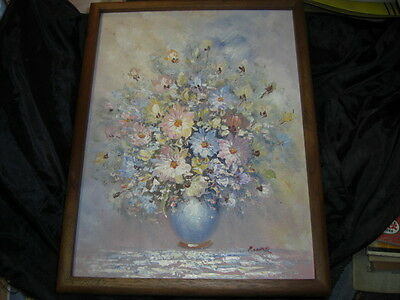 "Beautiful Floral  Still Life Signed Pizzarro 12 by 16""  Painting"