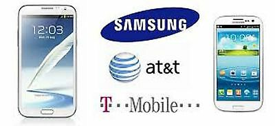 SAMSUNG UNLOCK CODE FOR ANY GALAXY S1 S2 S3 S4 S5 NOTES AT&T & T-MOBILE USA