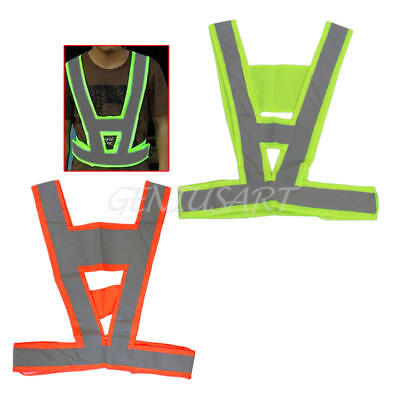 Safety Guard Waistcoat High Visibility Reflective Vest Warning Bands Gear