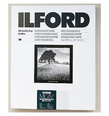 "Ilford Multigrade IVRC De Luxe Pearl Black & White 10x8"" (20.3x25.4cm) 100 sheet"