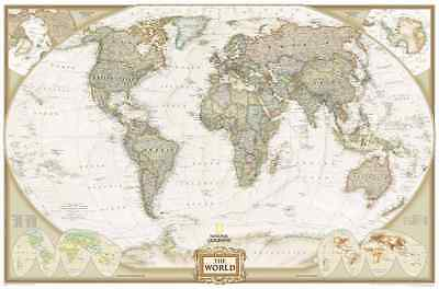The World Map Vintage Decorative Quality Poster for A0-A1-A2-A3-A4-A5-A6 - 134