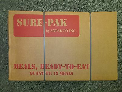 SURE-PAK MRE MEALS READY TO EAT 14PACK CASE SOPAKCO APACK A-PACK