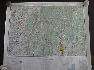 1957 - ANTIQUE Map of Albany, NY & Springfield, Mass. - Topographic - US Army