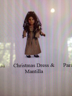 American Girl Doll Josefina's Christmas Dress And Mantilla