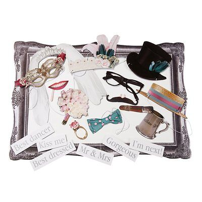 Wedding Photo Booth Kit With Frame & 20 Props Ideal For Weddings, Hen Party