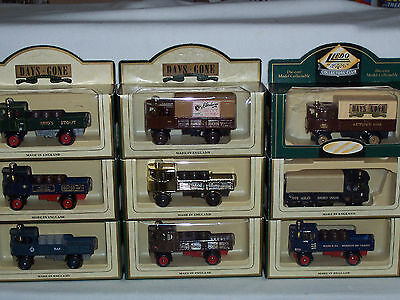 "9pc LLEDO DAYS GONE DG88 ""1931 DG4 SENTINEL 4 WHEEL DROPSIDE STEAM WAGON"""