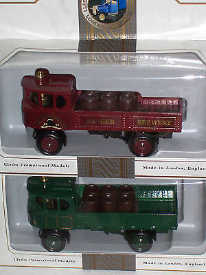 "2pc LLEDO DAYS GONE SP88 ""1931 DG4 SENTINEL 4 WHEEL DROPSIDE STEAM WAGON"""