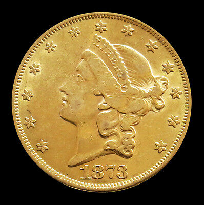1873 Gold United States $ 20 Liberty Head Double Eagle Ty Ii Coin Au