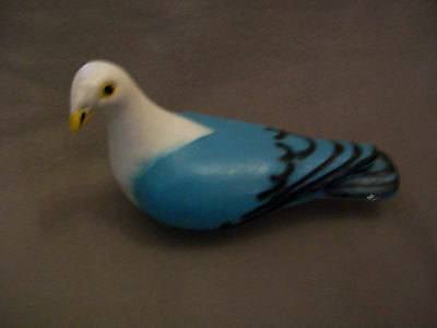 Large Vintage Ceramic / Clay Hand Painted Pigeon 9'' long