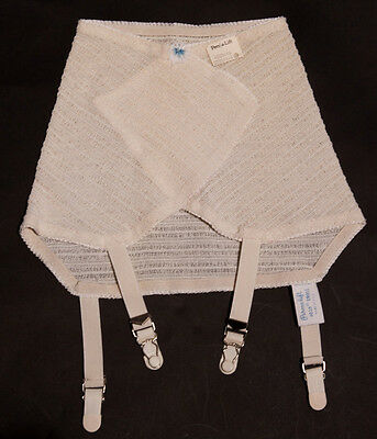 Vintage 'Perma-Lift' Elasticated Roll On Corset & 4 Metal Suspenders.Size Small