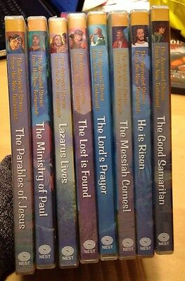 Lot Of 8 Animated Stories from the New Testament Nest Complete Learning System