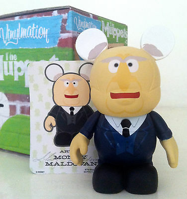 "DISNEY VINYLMATION 3"" MUPPETS SERIES 1 STATLER OLD MAN BALCONY PARK TOY FIGURE"