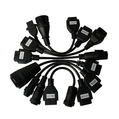 Professional TRUCK OBD - OBD2 OBDII 16 pin cable adaptor set kit for Trucks