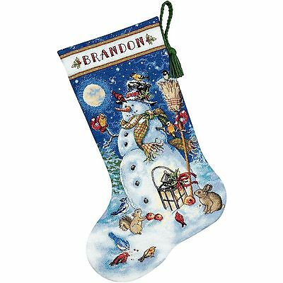 Snowman & Friends Stocking Christmas 70-08839 Counted Cross Stitch Kit