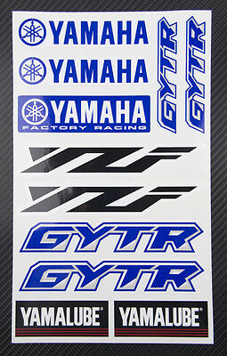 YZF GYTR Yamalube decals set 6.3x10.2 in 11 stickers yzf-r1 yzf-r6 yz-f 450