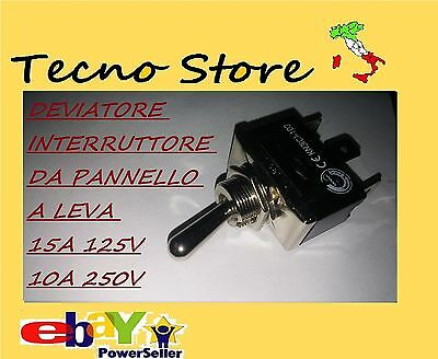 Deviatore Interruttore Da Pannello A Leva 15A 125Vcc 3 Pin 2 Vie Levetta On-Off