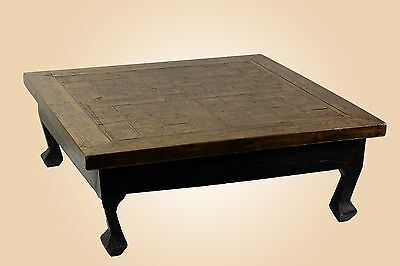 A Chinese Antiques Tibet Square Chess Table Nice Intricate Burl Wood Carving