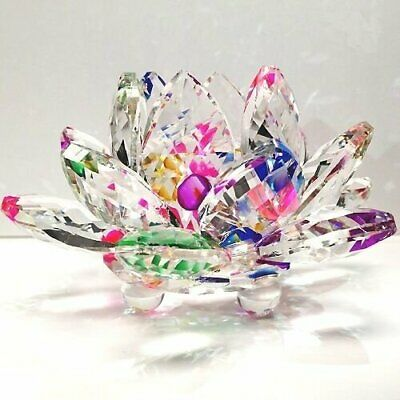 """New Arrival 4"""" Sparkle Crystal Lotus Flower with Gift Box"""