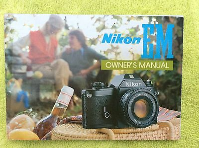 Nikon EM Camera Instruction Manual Genuine oem original