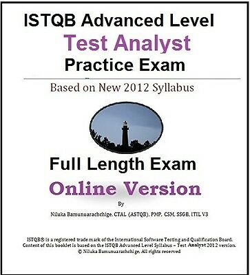 ISTQB Advanced Level – Test Analyst Full Length Online Practice Test