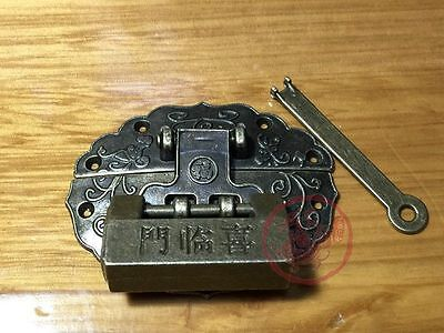 Chinese Old Blessing Lock And Latch Totem Buckle Clasp For Cabinet Jewelry Box