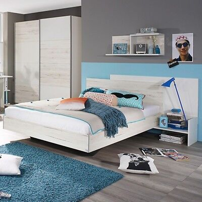 welle teenio jugendbett liege mit kopfteil wildeiche wei 90x200 o 100x200 cn eur 799 00. Black Bedroom Furniture Sets. Home Design Ideas