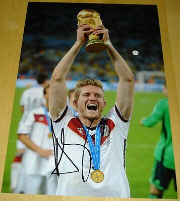Andre Schurrle Personally Hand Signed Autograph 12X8 Photo Germany Soccer