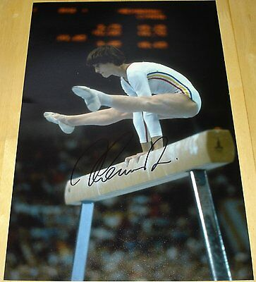 Nadia Comaneci  Personally Signed Autograph 12X8 Photo Romania Gymnastics