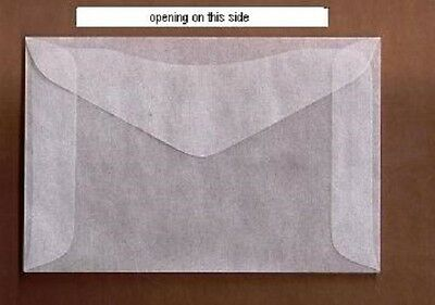 "100 #4 Glassine stamp Envelopes 3¼"" x 4 7/8"" westvaco cenveo jbm storage bag"
