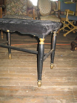 205A BLACK PAINTED FOOT STOOL BENCH OTTOMAN