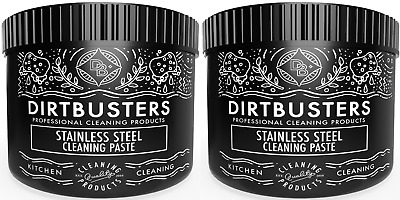 Stainless Steel Cleaning Paste 2 x 500g pot Stainless Cleaner Hobs Ovens