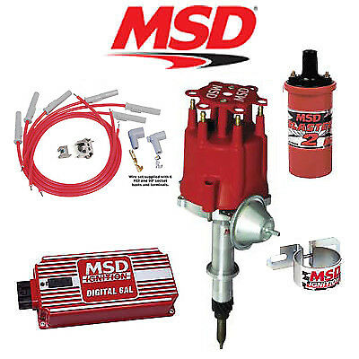 MSD 9012 Ignition Kit - Digital 6AL/Distributor/Wires/Coil Chevy Inline 6 Cyl