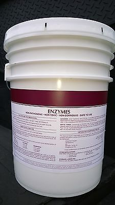 25 Lbs Powder Bacteria Enzyme Drain Opener Septic Tank Grease Trap Treatment