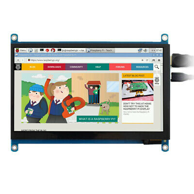New 7 inch 1024x600 Capacitive Touch Screen HDMI LCD Display For Raspberry Pi