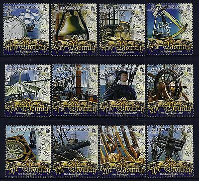 2007 Pitcairn Islands Bounty Definitives Complete Set Of 12 Fine Used